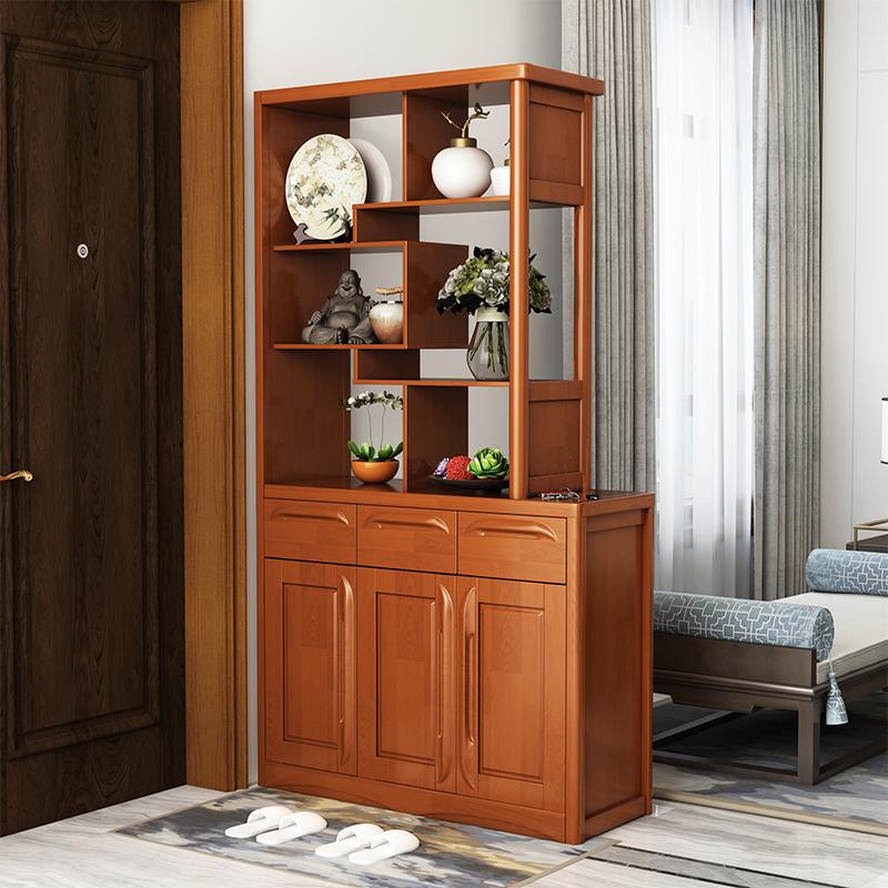Гостиная дверь Экран перегородки для входных шкафов поколение Простой шкаф для вина маленькая квартира из массива дерева двухсторонняя комната Шкаф для обуви