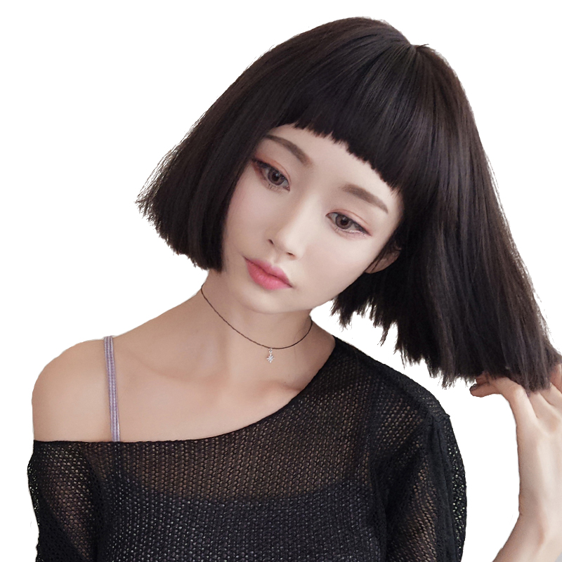 Short Curly Hair With Bangs Girls 100