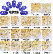 Korea New scattered bead Japanese jewelry matte copper long triangular square gold