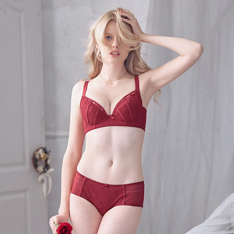 8dc15399baa ... lightbox moreview · lightbox moreview · lightbox moreview. PrevNext.  Goerel s natural fruit sexy thin section Red Wedding underwear set (bra ...