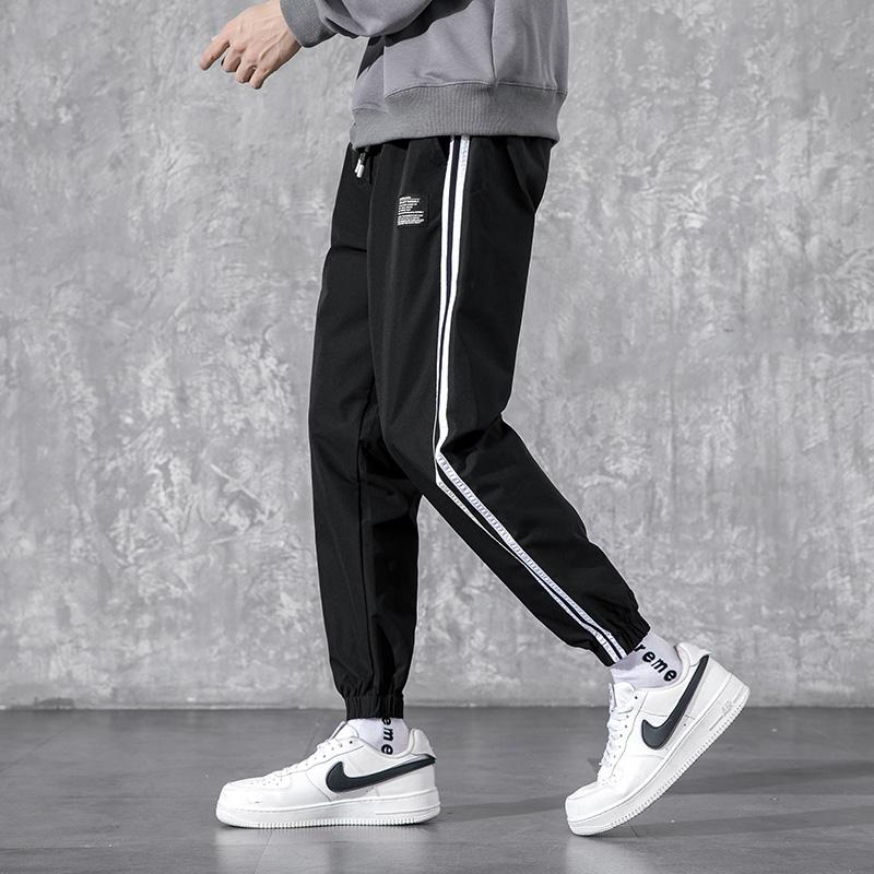 2020春季新品休闲小脚裤子男大码冰丝运动裤 更多主图在详情