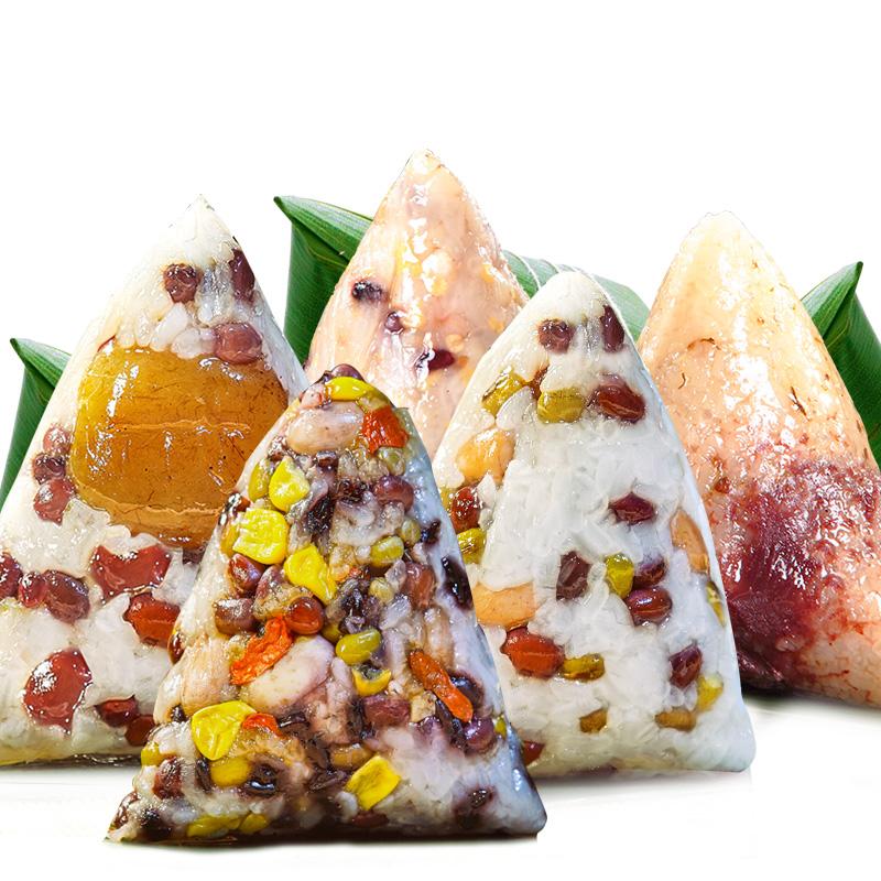 陶老大清真甜粽子双粒素粽子端午节豆沙五谷杂粮紫米10粽5味1300g_领取20元天猫超市优惠券