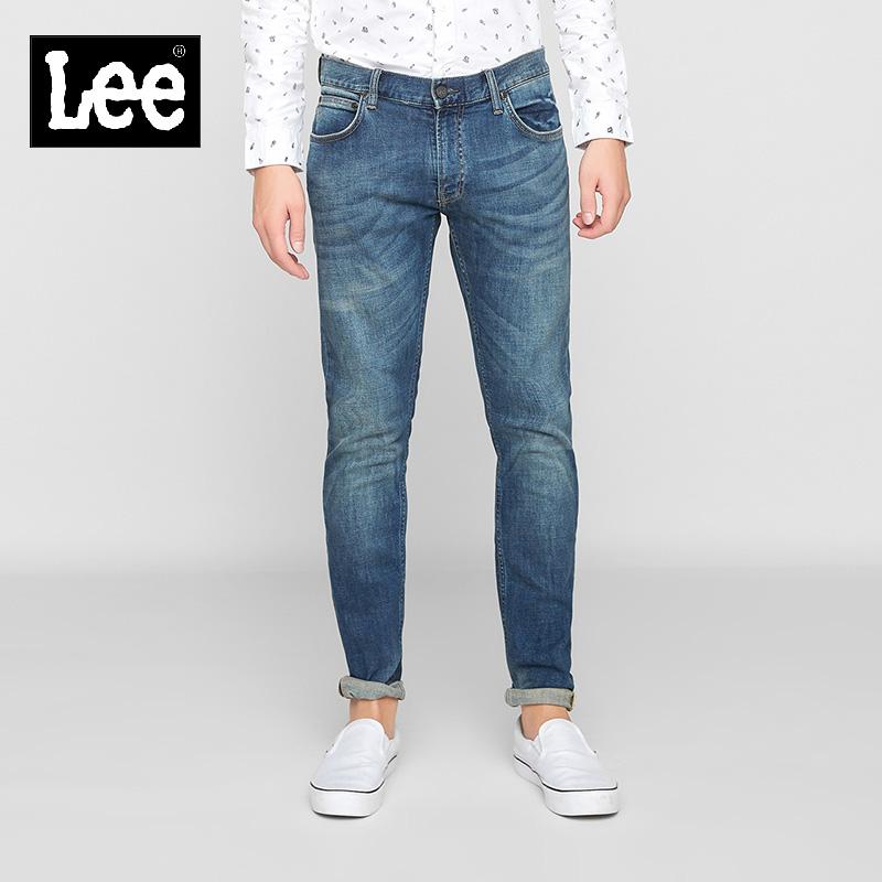 Lee男装复古牛仔裤修身小脚裤男潮流L11709Z021HW