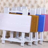 Со складыванием Стол обеденный стол дома небольшая квартира квадратный стол 4 человек обеденный стол на открытом воздухе портативный стойло стол и стулья общежитие простой стол