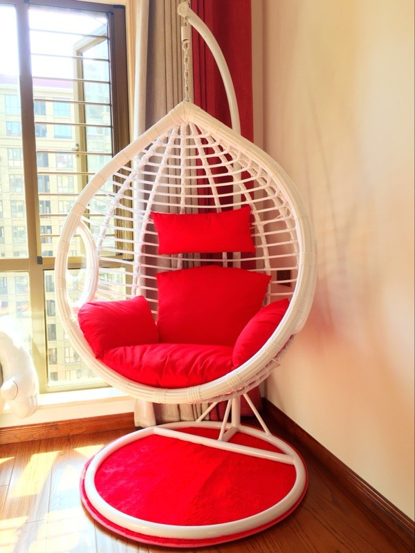 New Hanging Chair Thick Rattan Rocking Chair Indoor And Outdoor Swing Adult  Single Hanging Basket Nesting Rattan Chair Double Hammock ...