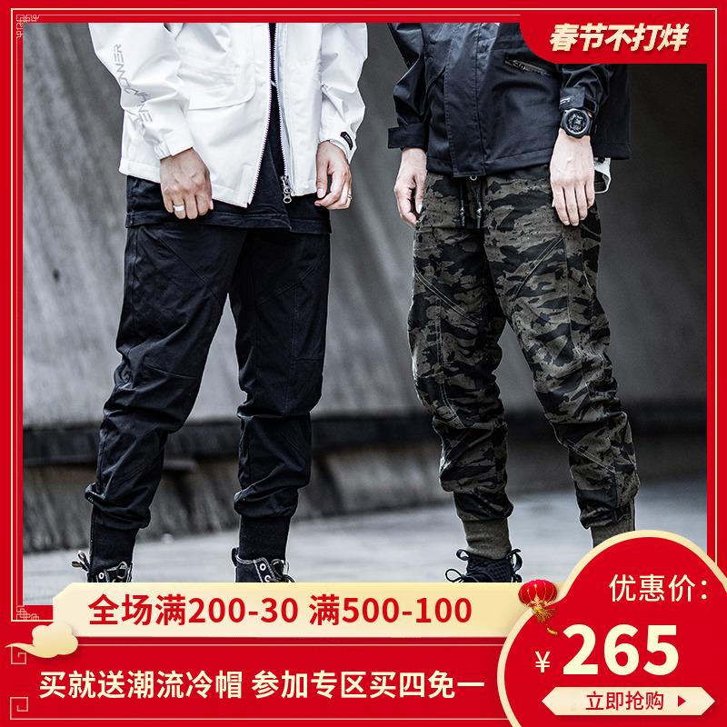 ENSHADOWER隐蔽者国潮五代束脚裤男潮牌宽松休闲长裤迷彩工装裤子