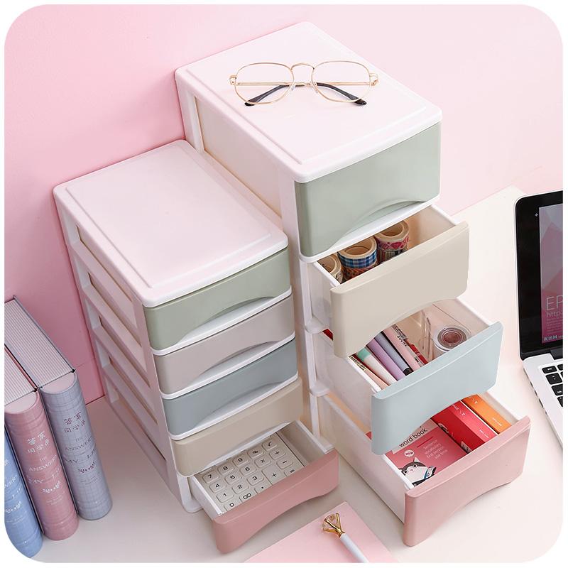抽屉式桌面收纳盒箱柜账本多层小号零食箱办公室杂物桌上可爱信盒