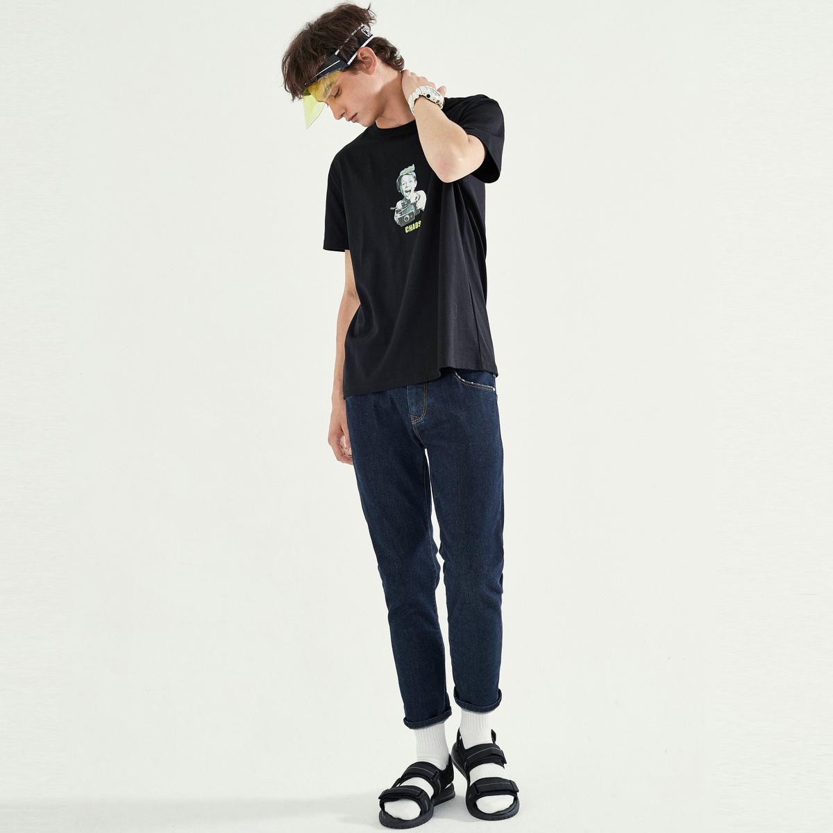 19新款、纯色丹宁:马克华菲 小脚牛仔裤