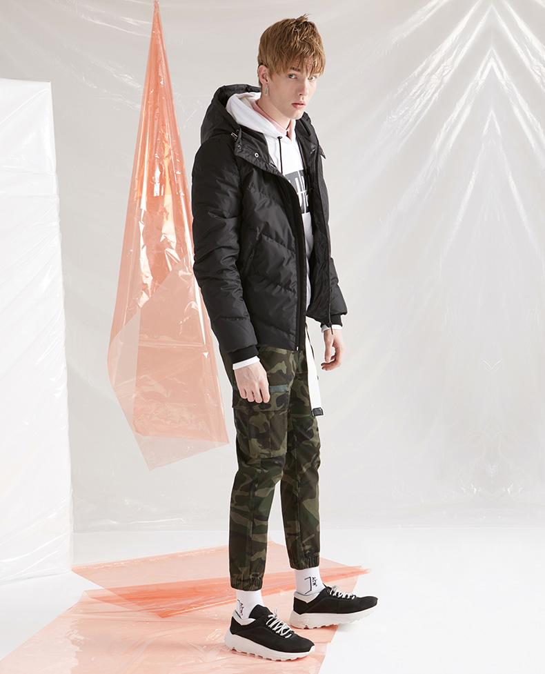 Mark Huafei quần âu nam mùa thu mới chùm chân ngụy trang quần overalls thoải mái thời trang giản dị chân quần thủy triều