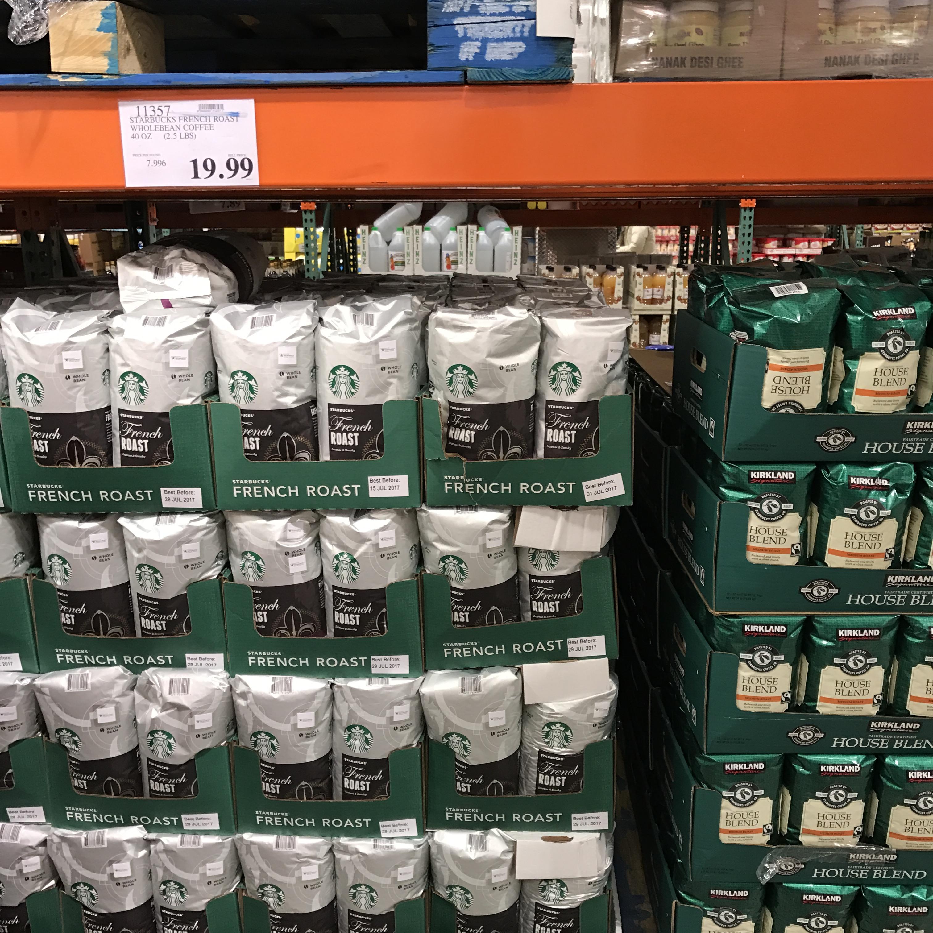 星巴克咖啡在美国_17年10月美国顺丰直邮进口正品STARBUCKS星巴克法式咖啡豆1130克g ...