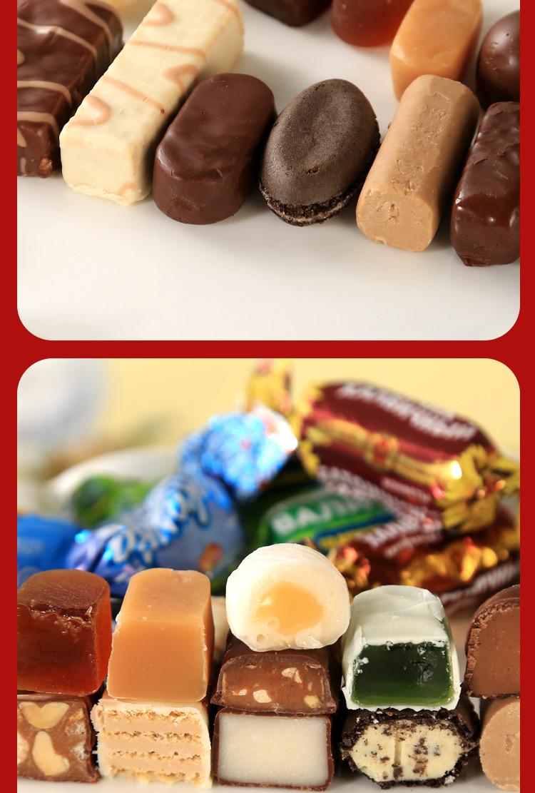 俄罗斯糖果高端巧克力混合装进口食品散装年货喜糖耶诞节礼包详细照片