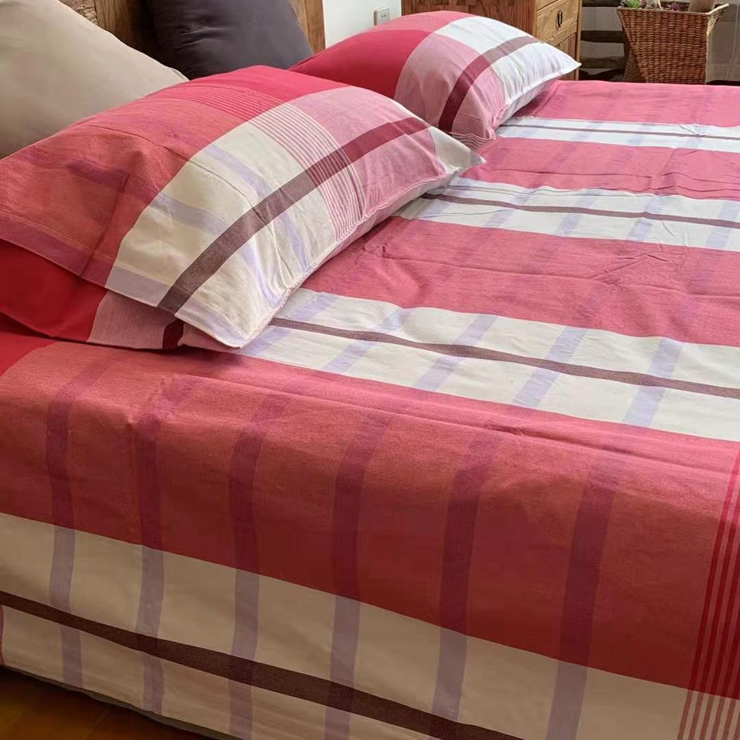 Chị Liu Lưu xuất khẩu sang Canada, cotton chải kỹ, denim cao cấp, ba hoặc bốn bộ ga trải giường, dày và siêu thoải mái - Bộ đồ giường bốn mảnh