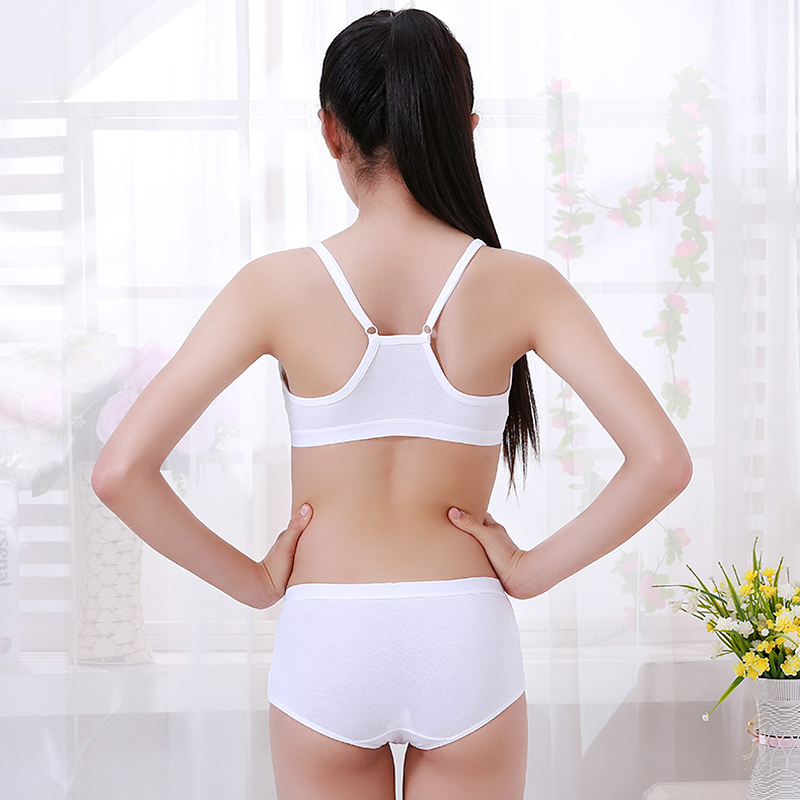 80b5e0e2acd 3 pieces of cotton girl bra development student underwear junior high ...