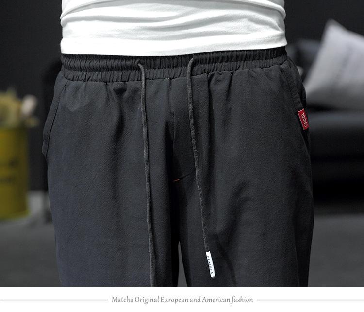 2019 春季新黑墙日系原创中国风七分裤大码男休闲裤M-5X K258-P40