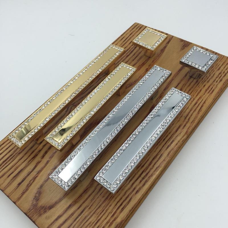 Отвратительный дверь сплав цинка + дрель отверстие кристалл обрабатывать выдвижной ящик гардероб шкаф обрабатывать пятый золото 8608 сейчас в надичии