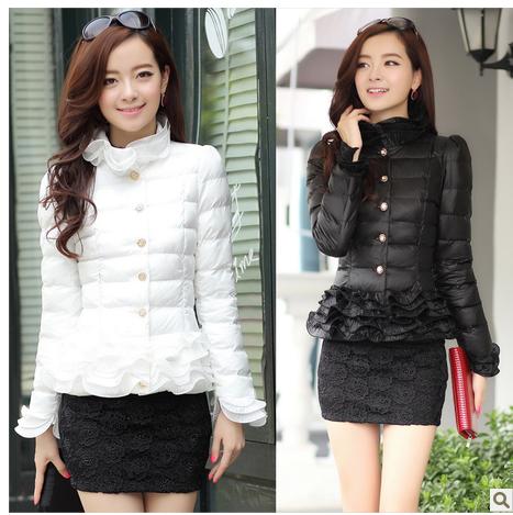 韩版修身显瘦小棉袄胖mm大码加厚保暖羽绒服棉袄外套短款棉服女装