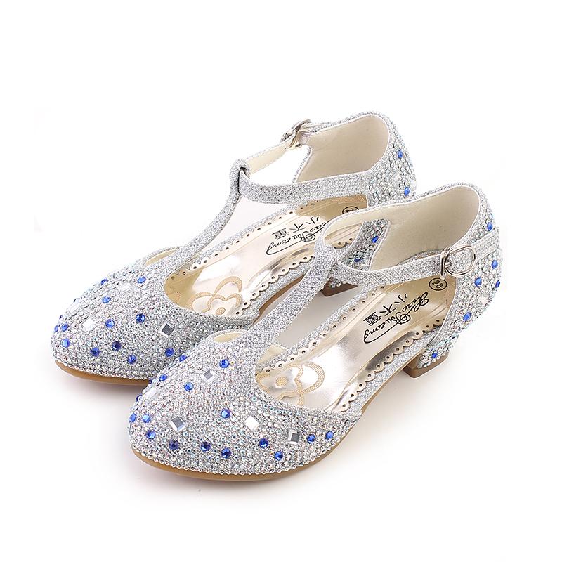 儿童舞蹈鞋2015新款女童皮鞋春秋季黑白色学生演出鞋韩版公主单鞋