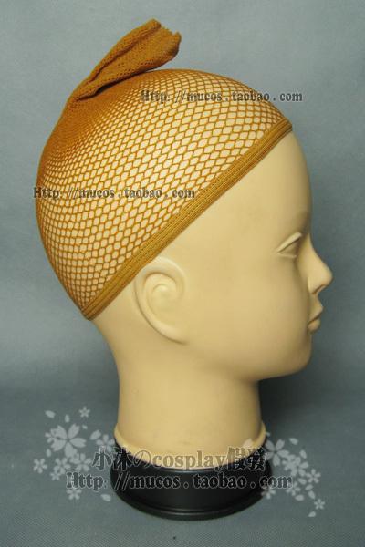 Парик [Маленький МУ の косплей парик】парик-носить Двойное отверстие супер плотная сеточка для волос/парик Браун