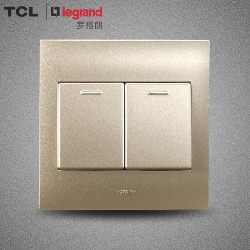 USD 35.41] TCL Legrand switch panel 86 type Shi-border Champagne ...