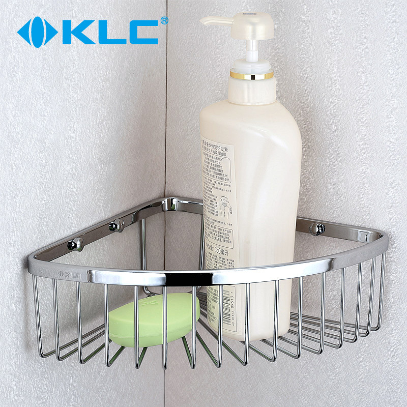 KLC 纯铜网篮扇形网篮浴室置物架转角架三角篮卫浴五金 WL22
