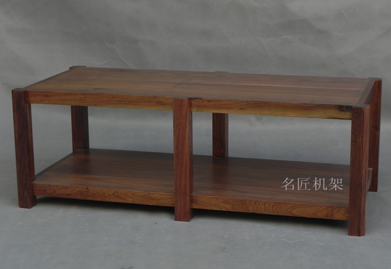 Ming Machine Frame Walnut Around The Two Story Solid Wood Rack Stereo Rack  Stereo Cabinet