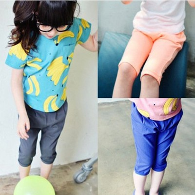 2% OFF Clearance Korea children's wear girls summer 2016 new solid color wild children's leisure pants pants shorts