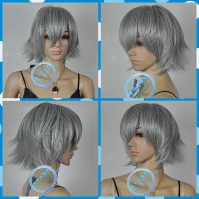 taobao agent Hetalia Prussia Gilbert Aster COS Wig Grey Reverse Curled Short Hair
