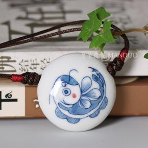 Другое,  Синий и белый керамика кулон народ характеристика культура из кулон высококачественный ювелирные изделия кулон подвески роскошь кулон M шесть, цена 679 руб