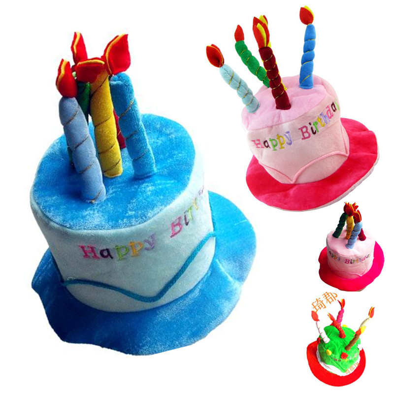 Birthday Cake Cap Children Hat Party Candle Cosplay Special Happy Cos