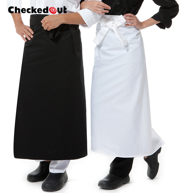 Home Official Website Kitchen Cooking Aprons Work Dining Half-length Long Waist Apron Catering Chefs Hotel Waiters Uniform Custom Logo