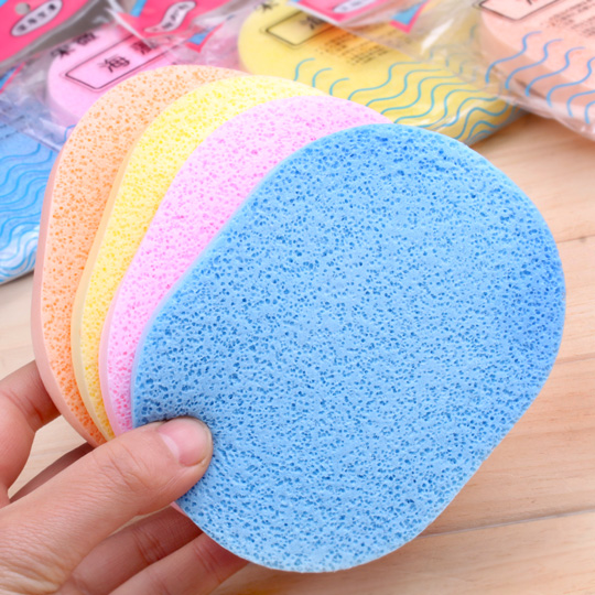 Thick wash face pounce hot selling seaweed cleansing surface pounce makeup beauty sponge powder drop makeup wash face cotton