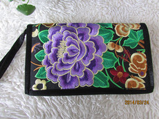 National wind embroidery wallet card package