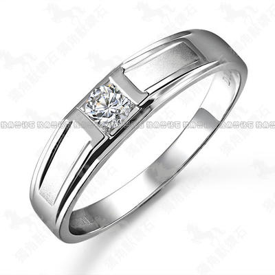 Unicorn Diamond 18K White Gold Diamond Ring Diamond Ring Men Men