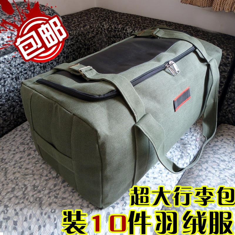 Công suất lớn túi du lịch xách tay vải nam giới và phụ nữ túi hành lý quilt di chuyển túi lưu trữ lớn chờ đợi túi