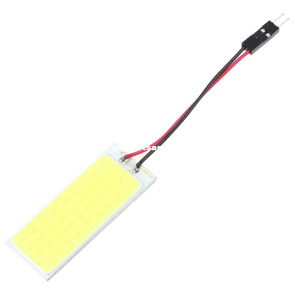 White 24W COB Chip LED Car Interior Light T10 Festoon Dome