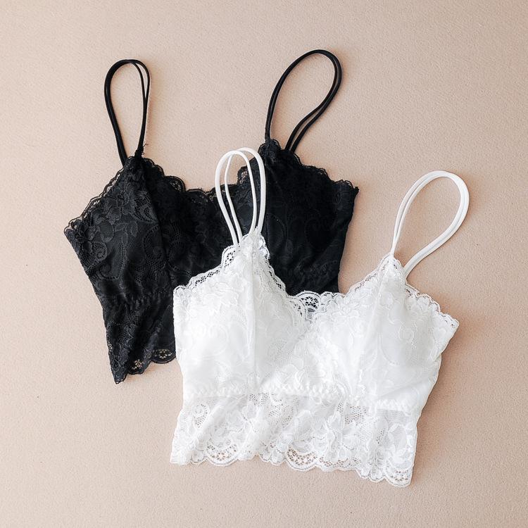 Mùa hè cô gái da trắng gợi cảm top top đồ lót chống sáng với miếng đệm ngực ôm ngực đẹp lưng yếm - Ống