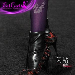 日系镶钻假纹身刺青丝袜日本原宿图案带钻可爱水钻时尚新款潮丝袜