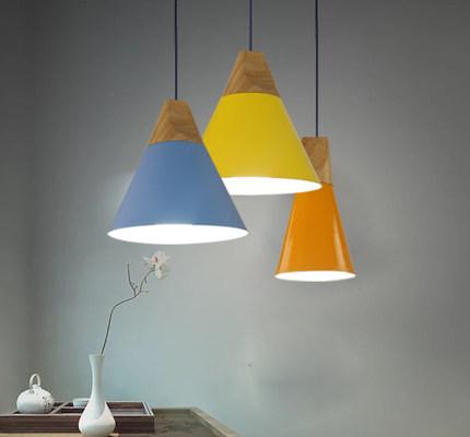 常工 北欧现代时尚简约宜家风格实木吊灯