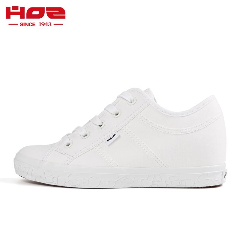 HOZ backstreet gia tăng giày nữ, giày vải đế thấp, giày thường ngày mùa thu, giày trắng, chữ, giày hợp thời trang - Giày cắt thấp