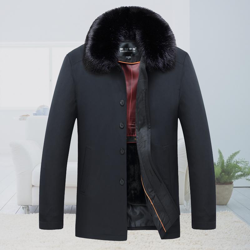 男士外套冬季2016新款中老年人棉服爷爷爸爸装冬装加绒加厚棉衣袄