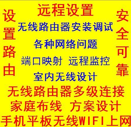 Router settings remote service WIFI debug configuration wireless bridge  network optimization speed limit port mapping