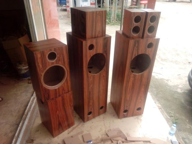Speaker Empty Wooden Skin Paint Custom Made Two Divided Frequency Solid Wood  Speaker Cabinet DIY Audiophile Subwoofer