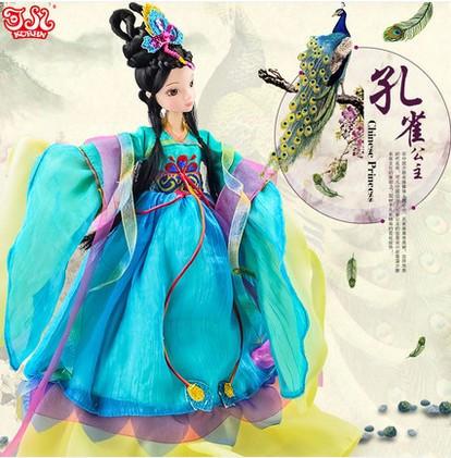 正品可儿娃娃古装衣服套装芭比娃娃古装文成公主中秋礼物礼盒9050