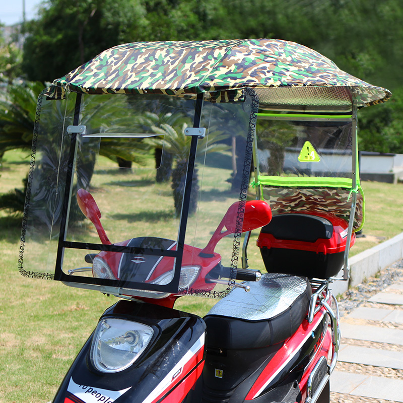 Reinforced Electric Motorcycle Shelter Canopy New Battery