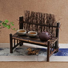 Antique bamboo fence teacup frame screen fence tea tea ceremony decoration with photo background