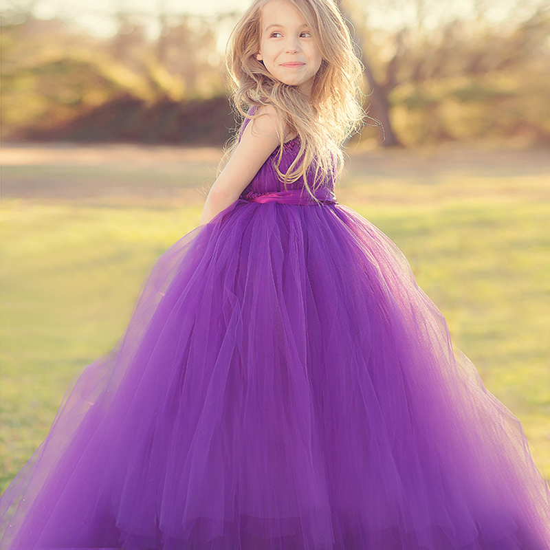 USD 132.88] Children dress girls Princess dress girls Wedding Dress ...