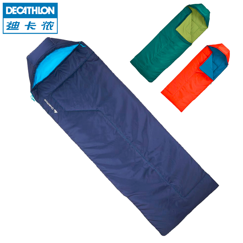 purchase cheap d0f47 e4acc Decathlon outdoor camping sleeping bag adult children single room double  stitching warm lunch every dirty QUNC
