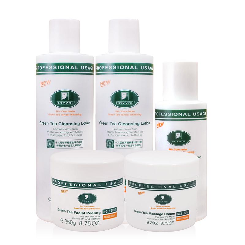 莱茵绿茶控油5件套化妆品套装祛痘印祛痘产品补水保湿护肤品套装