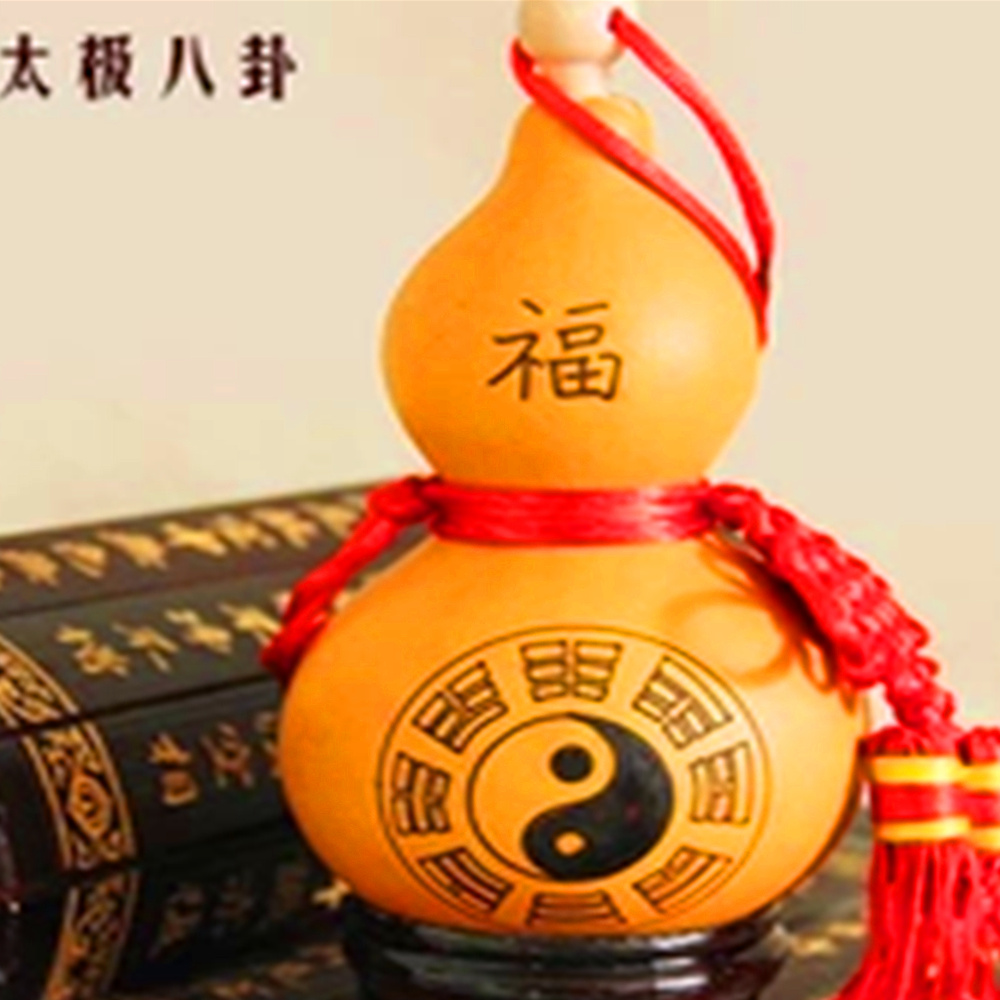 Boutique open natural Taiji Gossip large drilling gourd pendulum pendant town house evil lucky blessing