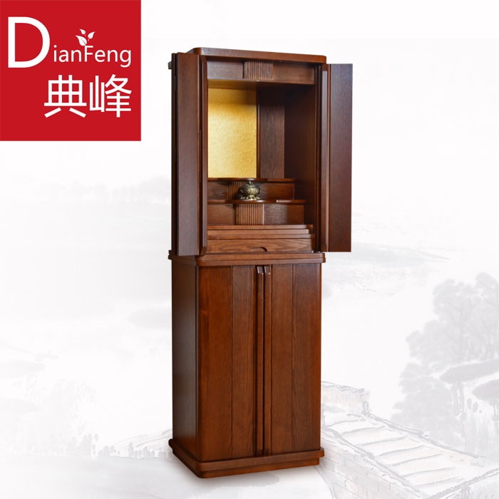 Dianfeng Solid Wood Buddha Cabinet Chinese Style 龛 龛 带 财 财 财 供 供 供 供 供 供 供  供 供